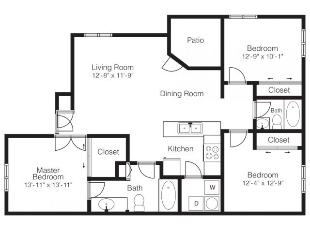 Floor Plans at Palms at Peccole Ranch Apartments