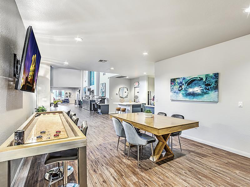 Clubhouse Interior With Shuffle Board | Palms at Peccole Ranch Las Vegas Apartments