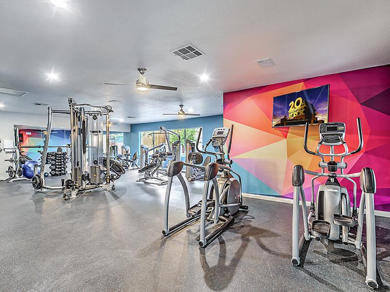 Fitness Center | Palms at Peccole Ranch Las Vegas Apartments