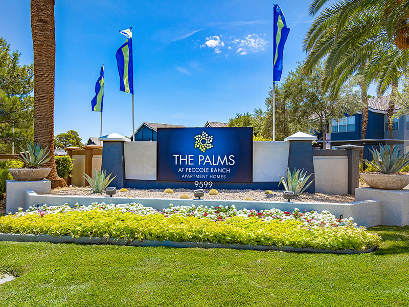 Welcome Sign | Palms at Peccole Ranch Apartments in Las Vegas, NV