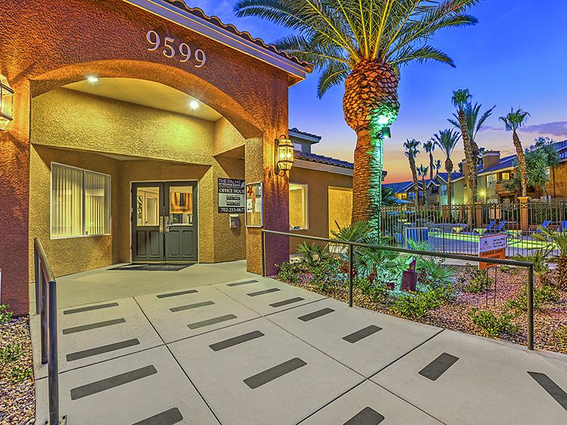 Clubhouse Exterior Entrance | Palms at Peccole Ranch