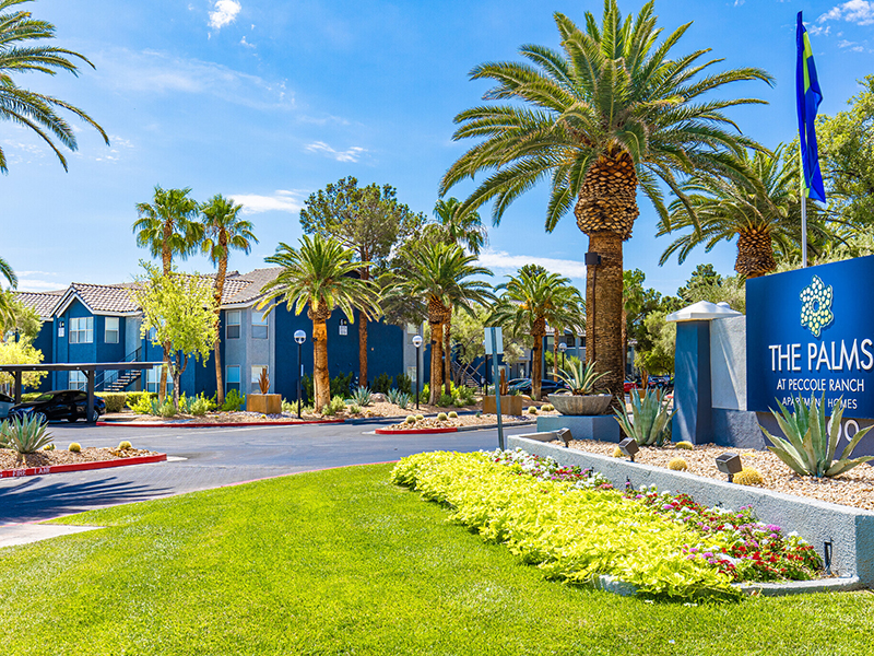 Monument Sign | Palms at Peccole Ranch Apartments in Las Vegas, NV