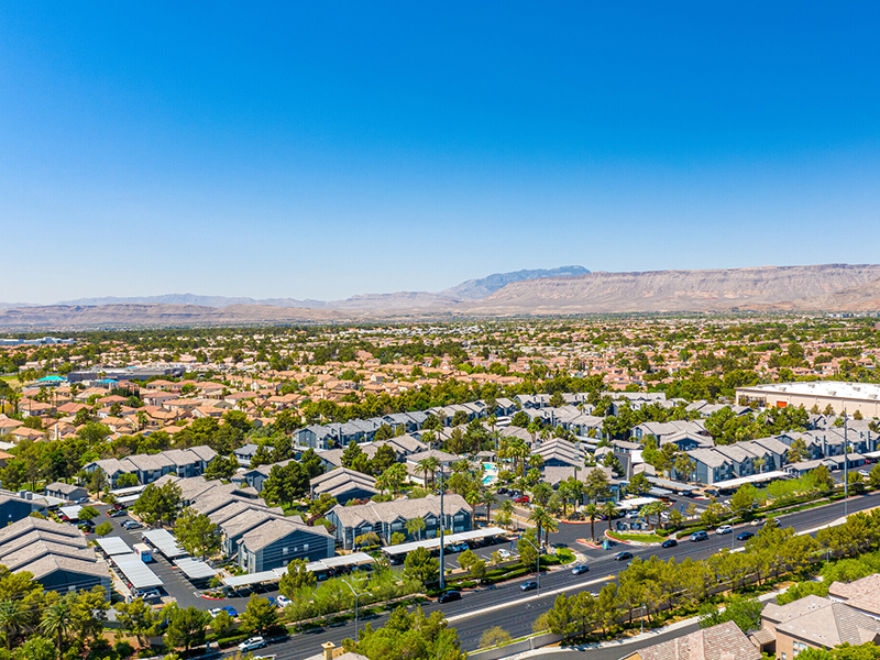 Aerial View | Palms at Peccole Ranch Apartments in Las Vegas, NV