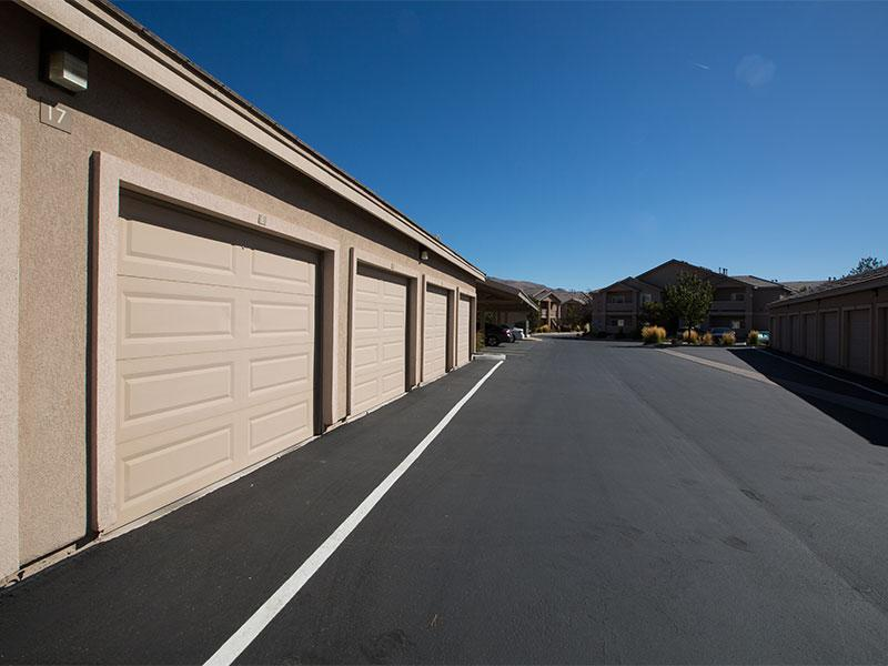 Attached Garges |  Horizons at South Meadows Apartments in Reno
