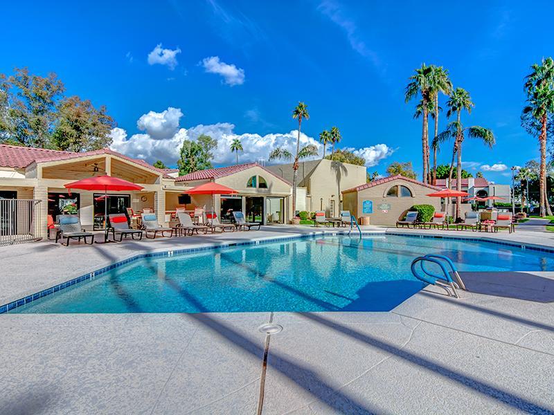 Outdoor pool in Scottsdale, AZ apartments apartment