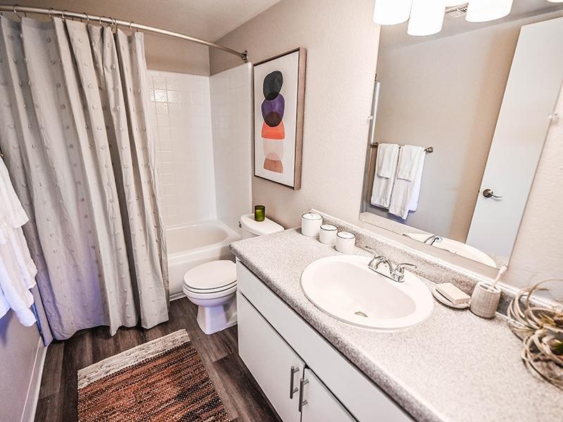 Bathroom | Dakota Canyon Apartments in Santa Fe NM