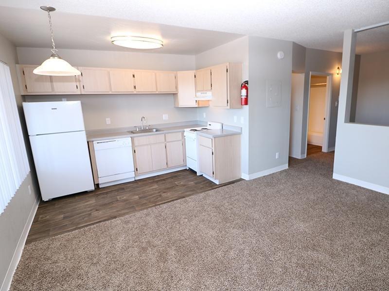 Kitchen Layout | Dakota Canyon 87505 Apartments