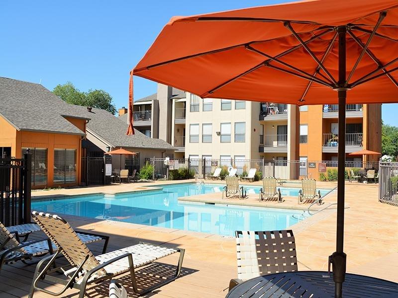 Poolside | Alvarado Apartments