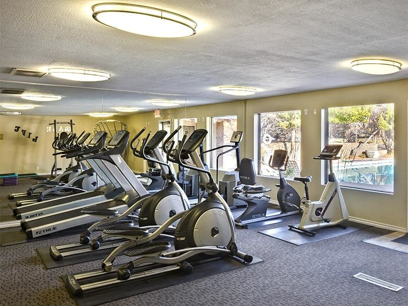 Resort Style Community including Fitness Center at Spain Gardens Apartments, Albuquerque, New Mexico