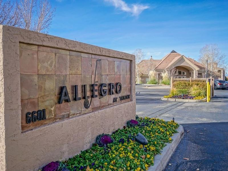 Exterior Welcome Sign | Allegro at Tanoan Albuquerque Apartments