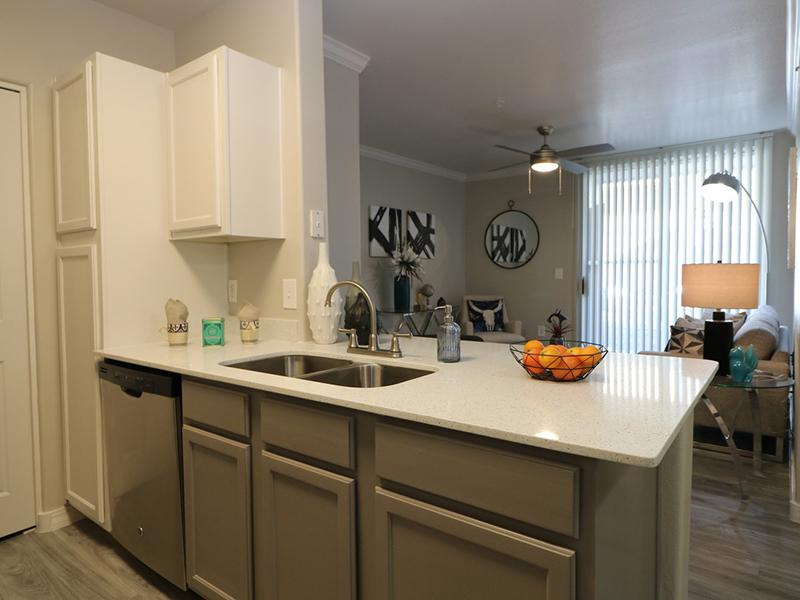 Apartments Kitchen With Quartz Countertops | Allegro at Tanoan Albuquerque Apartments