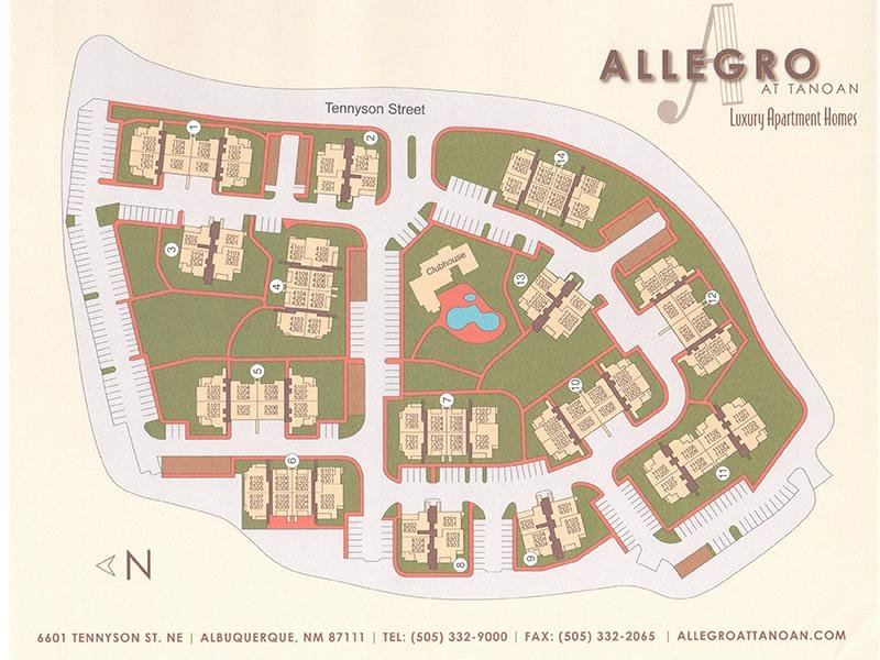 Property Map | Allegro at Tanoan 87111 Apartments