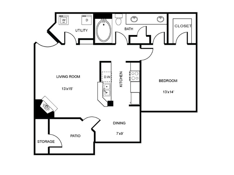 Floor Plans at The Enclave Apartments
