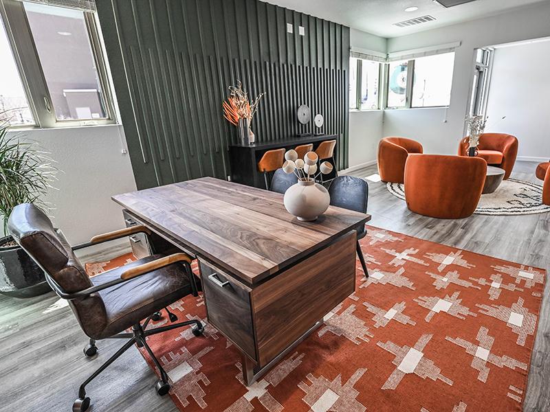 Leasing Office Desk | Camino Real Apartments in Santa Fe, NM