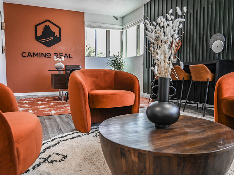 Leasing Office Seating | Camino Real Apartments in Santa Fe, NM