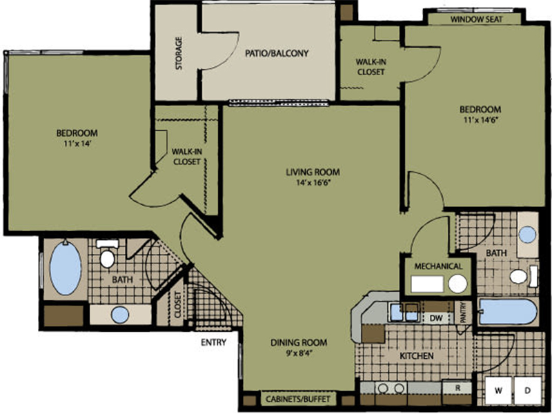 Floor Plans at San Miguel Del Bosque Apartments