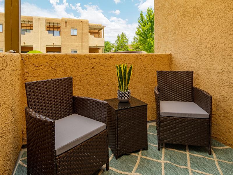Balcony | San Miguel Del Bosque Apartments in Albuquerque, NM