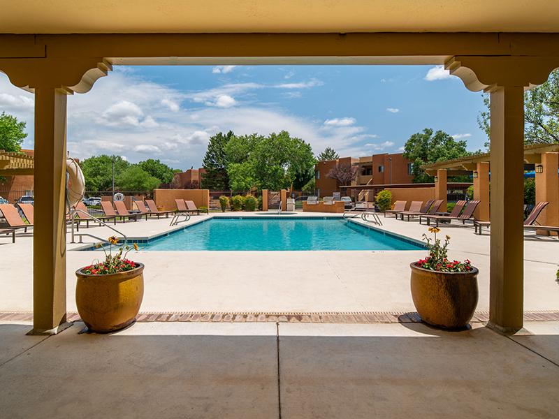 Shimmering Pool | San Miguel Del Bosque Apartments in Albuquerque, NM