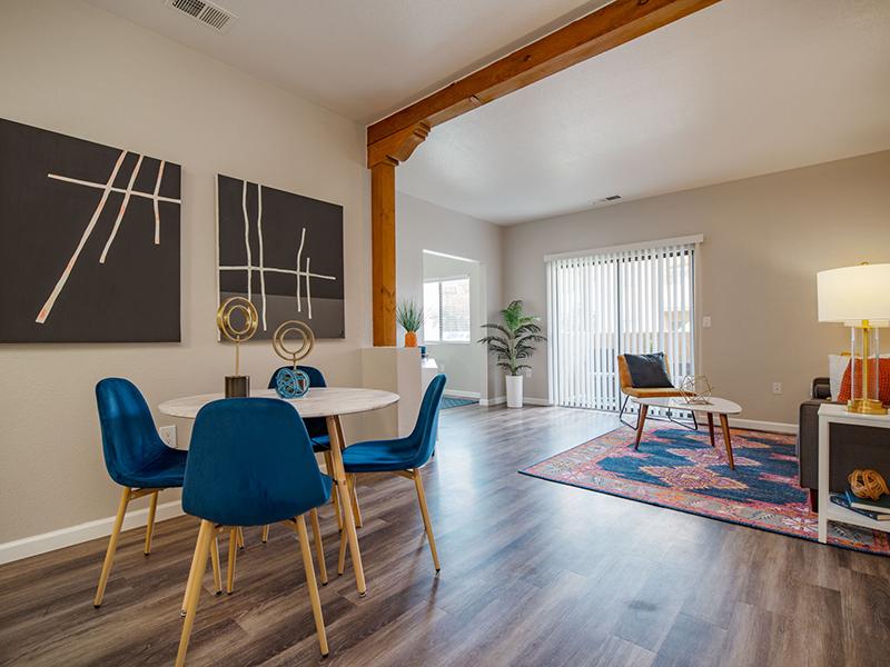 Dining Area and Living Room | San Miguel Del Bosque Apartments in Albuquerque, NM