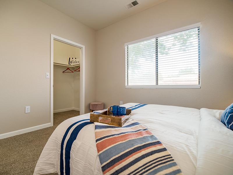 Furnished Bedroom | San Miguel Del Bosque Apartments in Albuquerque, NM
