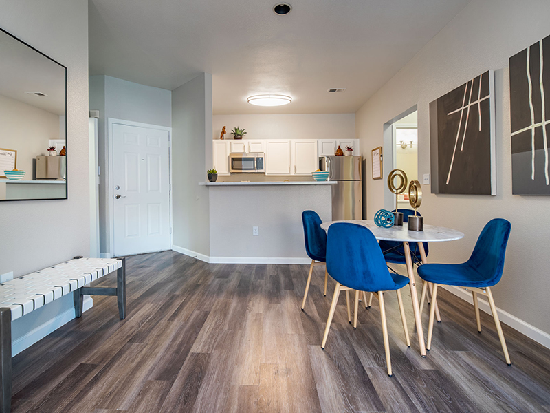 Dining Area and Kitchen | San Miguel Del Bosque Apartments in Albuquerque, NM