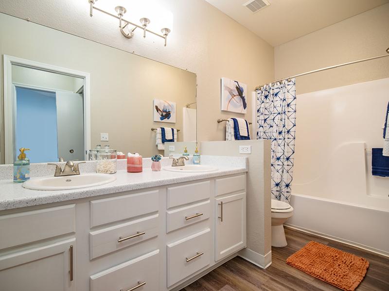 Bathroom | San Miguel Del Bosque Apartments in Albuquerque, NM