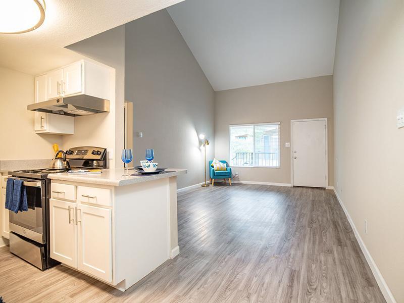 Living Room and Kitchen | Villa Serena Apartments in Albuquerque, NM