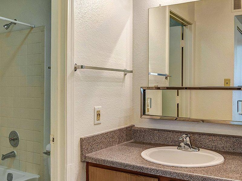 Bathroom Counter   Dorado Heights Apartments in Albuquerque, NM