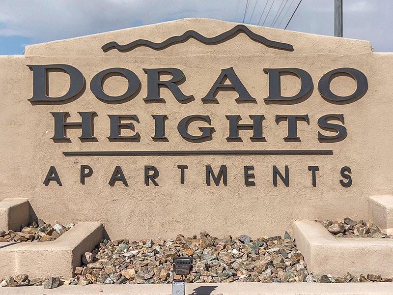 Monument Sign   Dorado Heights Apartments in Albuquerque, NM