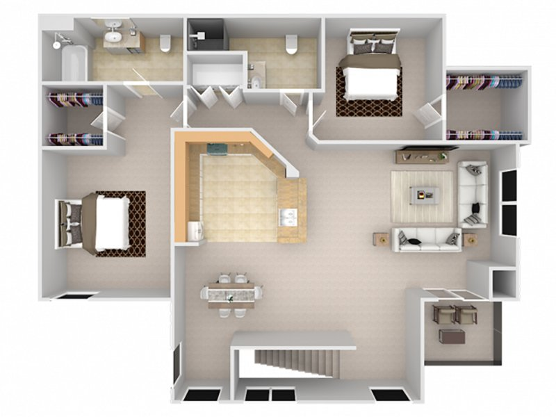 Floor Plans at St. Clair Apartments