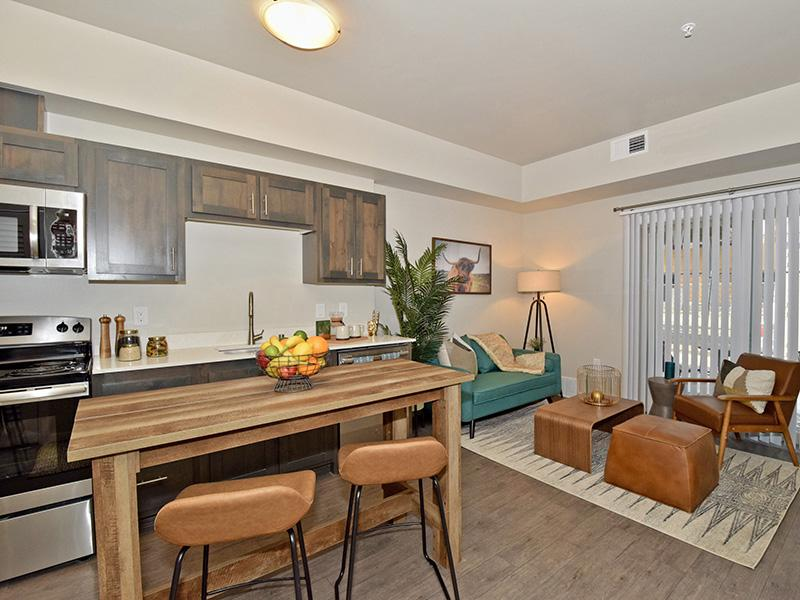 Kitchen And Living Room At Coburn Crossing