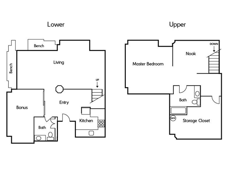 Floor Plans at Honeyman Hardware Lofts Apartments
