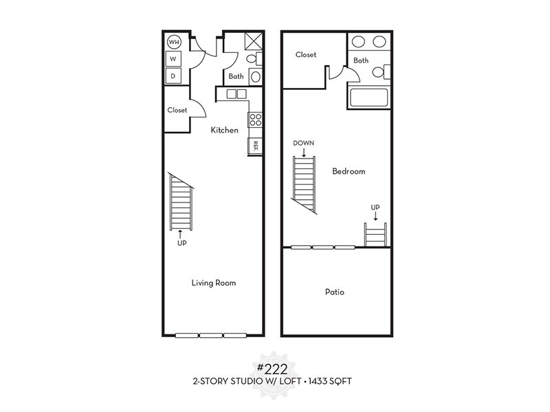 2 3 bedroom floor plans apartments in portland or for 3 story apartment floor plans