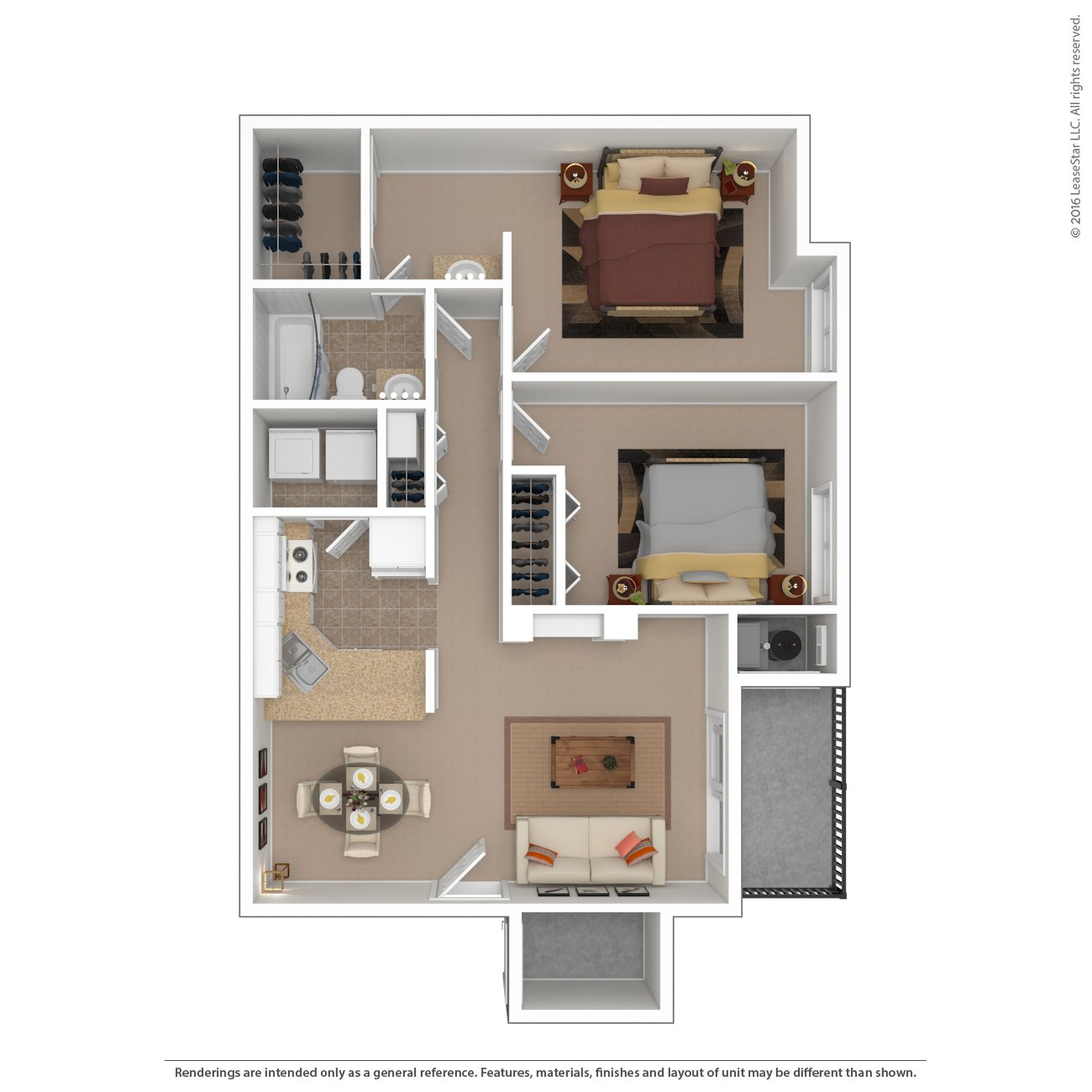 Floor Plans at Santa Fe Apartments in Salt Lake City, UT