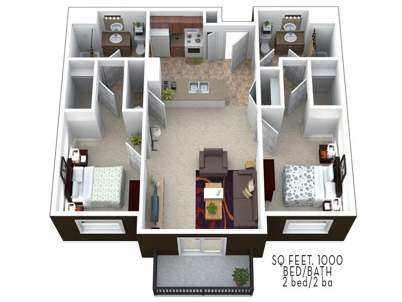 Floor Plans at Wasatch Commons Apartments