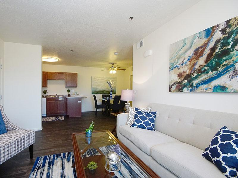 Living Room | Wasatch Commons Apartments in Heber, UT