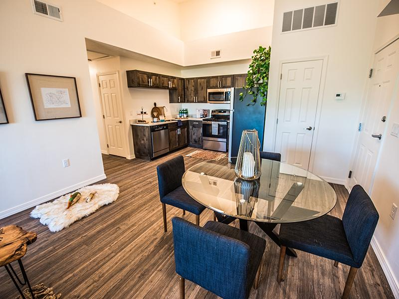 Dining Room & Kitchen | Wasatch Commons Apartments Near Park City