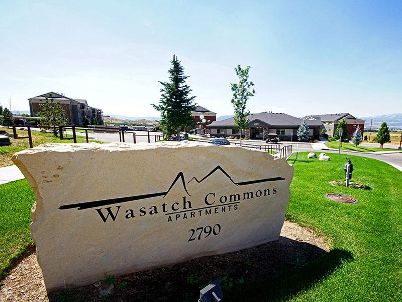 Entrance Sign | Wasatch Commons Apartments in Heber City UT