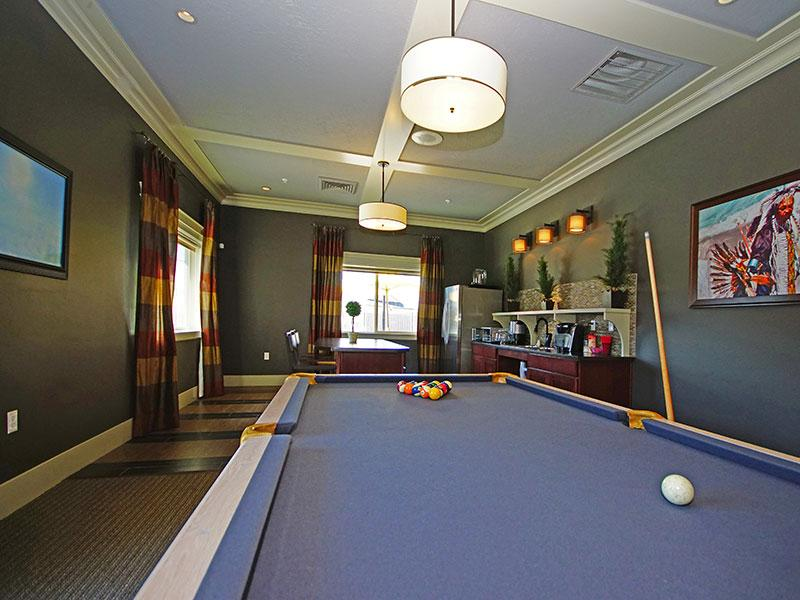 Clubhouse - Pool Table & Kitchen Area