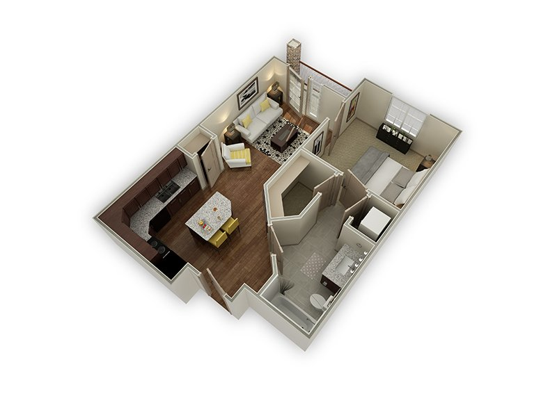 Floor Plans at Dry Creek at East Village Apartments