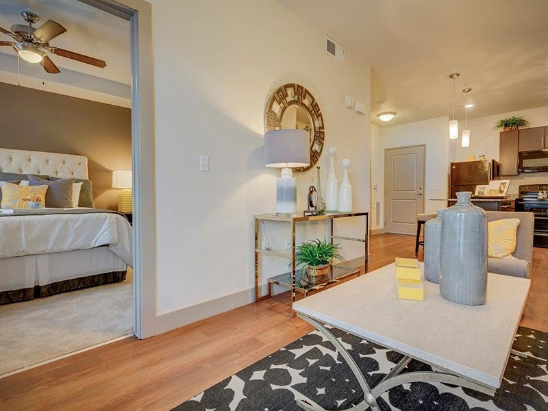Living Room & Bedroom View | Dry Creek at East Village