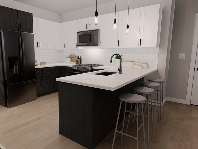 Fully Equipped Kitchen   Unit 212   The Charli