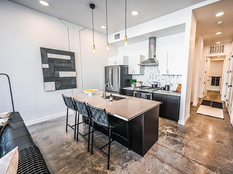 Kitchen   TheCHARLI Apartments in Salt Lake City, UT
