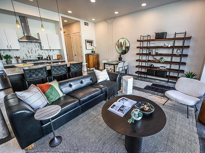 Living Room   TheCHARLI Apartments in Salt Lake City, UT