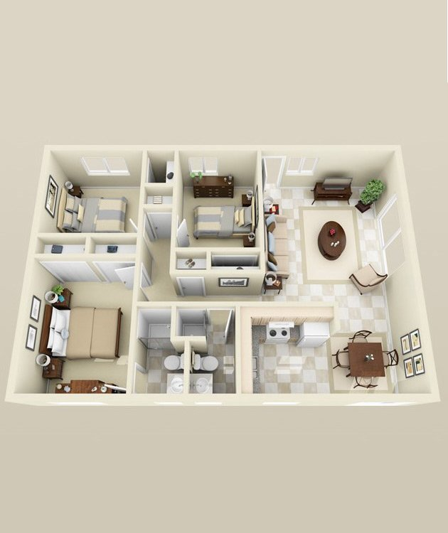 Floor Plans at Oasis Townhomes Apartments