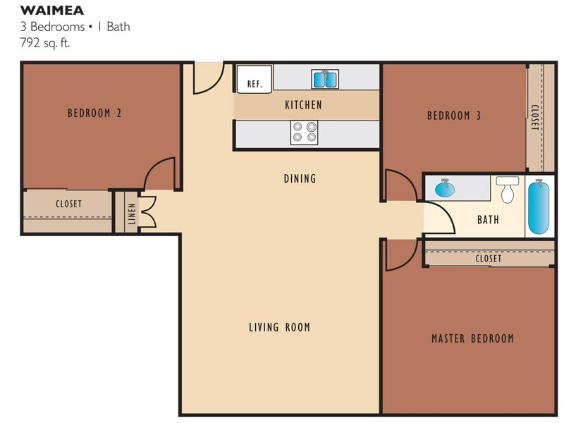 Floor Plans at The Palms of Kilani Apartments