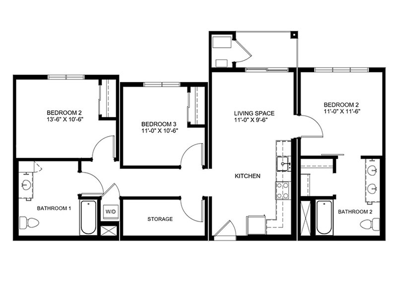 Floor Plans at Truckee's Coburn Crossing Apartments