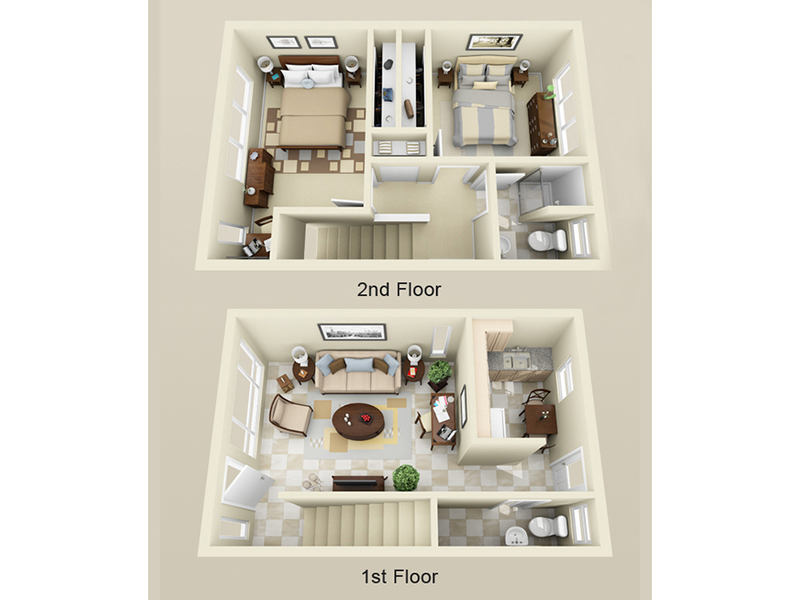 Floor Plans at Kauhale Station Apartments