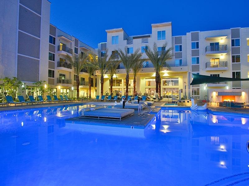 Pool - Nightlife at Slate Scottsdale Apartments