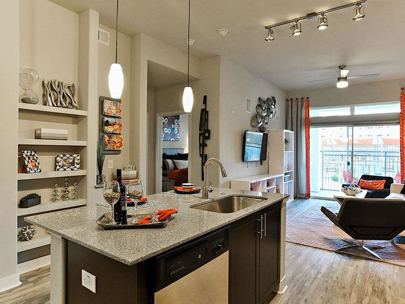 Kitchen Island - The Hyve Apartments - AZ
